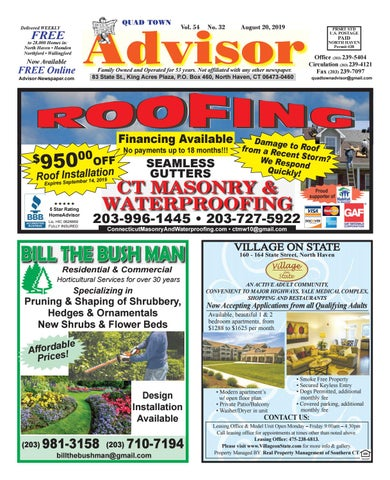 Hamden Summer Concerts 2020.The Advisor August 20 2019 By The Advisor Newspaper Issuu