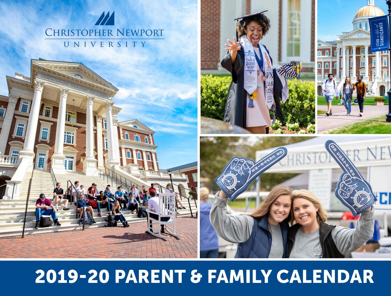 Cnu Graduation 2020.2019 2020 Family Calendar By Christopher Newport University