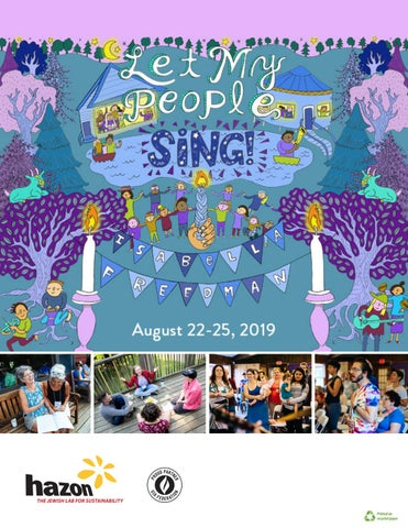 Let My People Sing! Program Book 2019 by Hazon - issuu