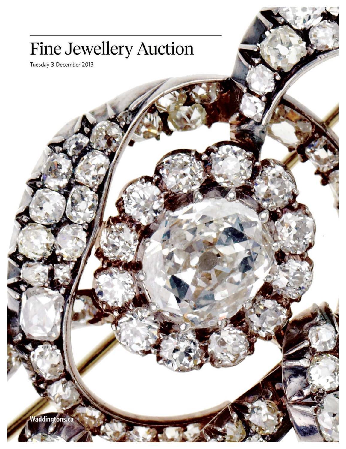 Fine Jewellery Auction Dec 3 2013 By Waddingtons Issuu