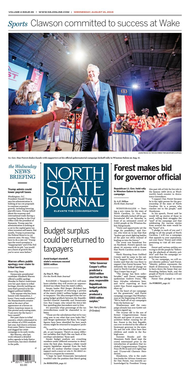 North State Journal Vol  4, Issue 26 by North State Journal