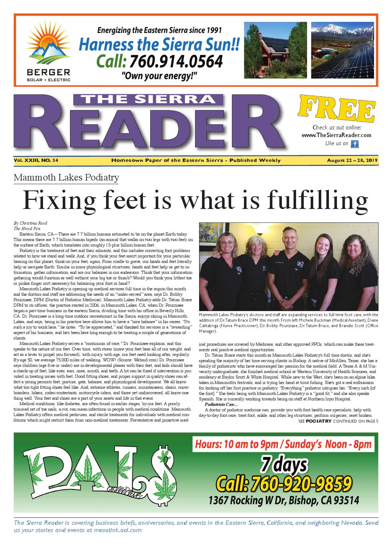 THE SIERRA READER AUGUST 22 2019 by The Sierra Reader - issuu