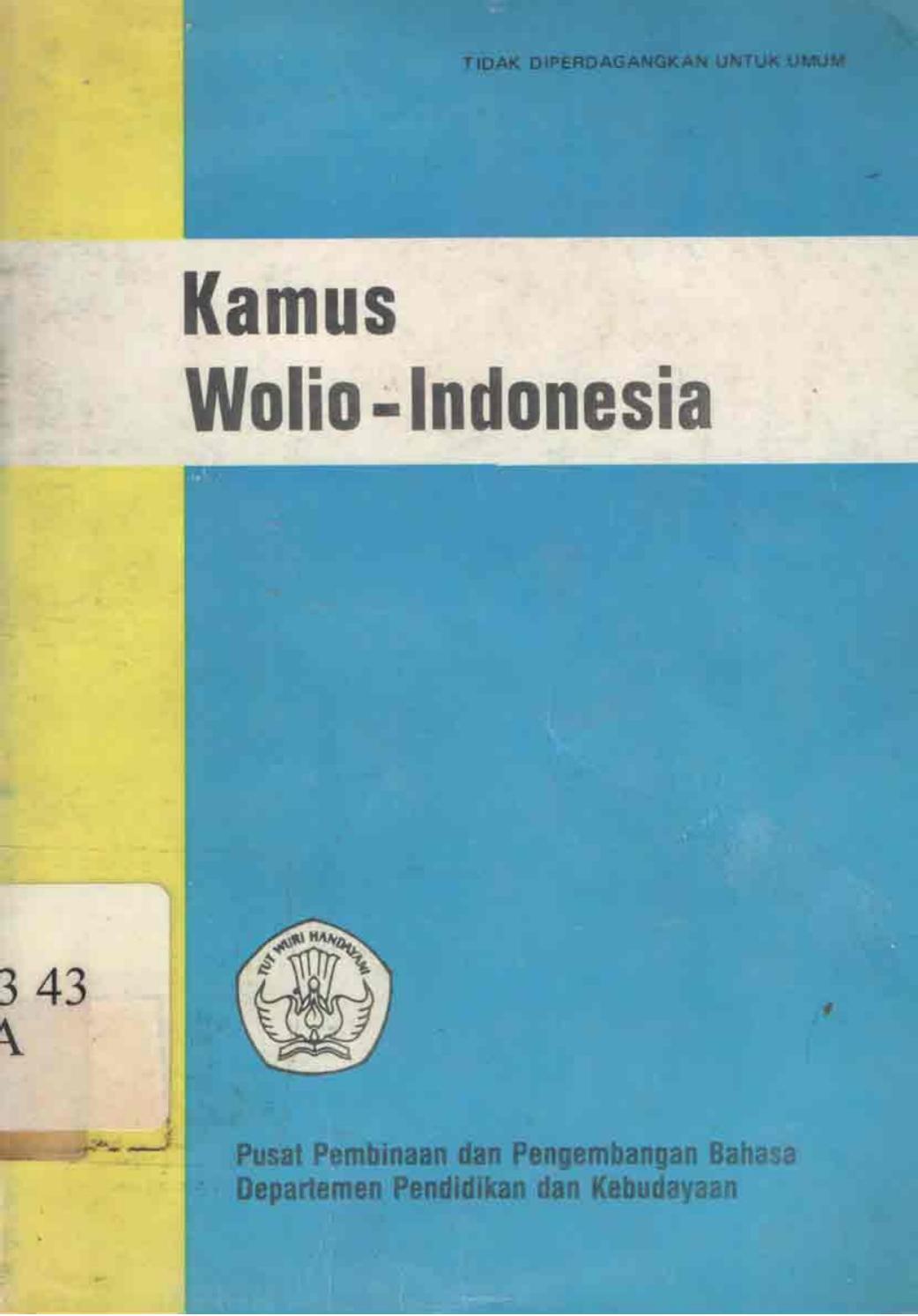 Kamus Wolio Indonesia By Taman Baca Hayluz Issuu