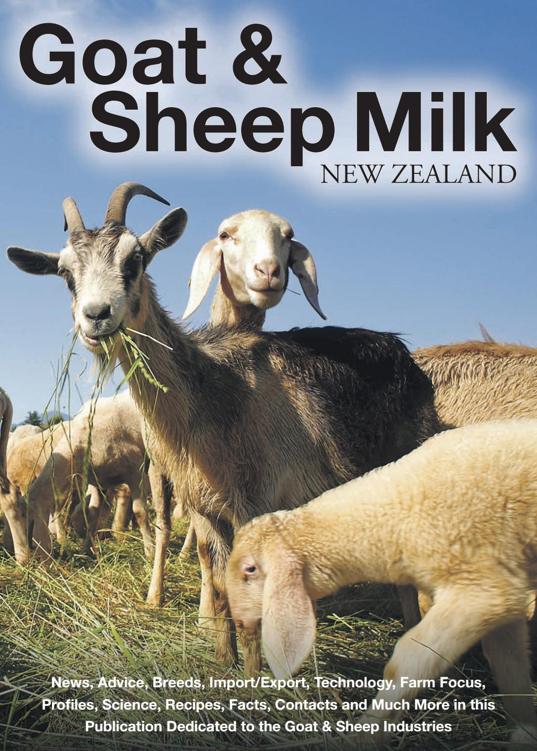 Sheep And Goat Milk New Zealand By Manuel Media Issuu
