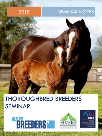 """Cover of """"2018 Thoroughbred Breeders NSW Seminar Notes"""""""