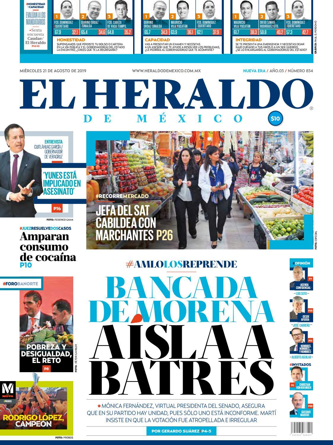 Miércoles 21 De Agosto De 2019 By El Heraldo De México Issuu