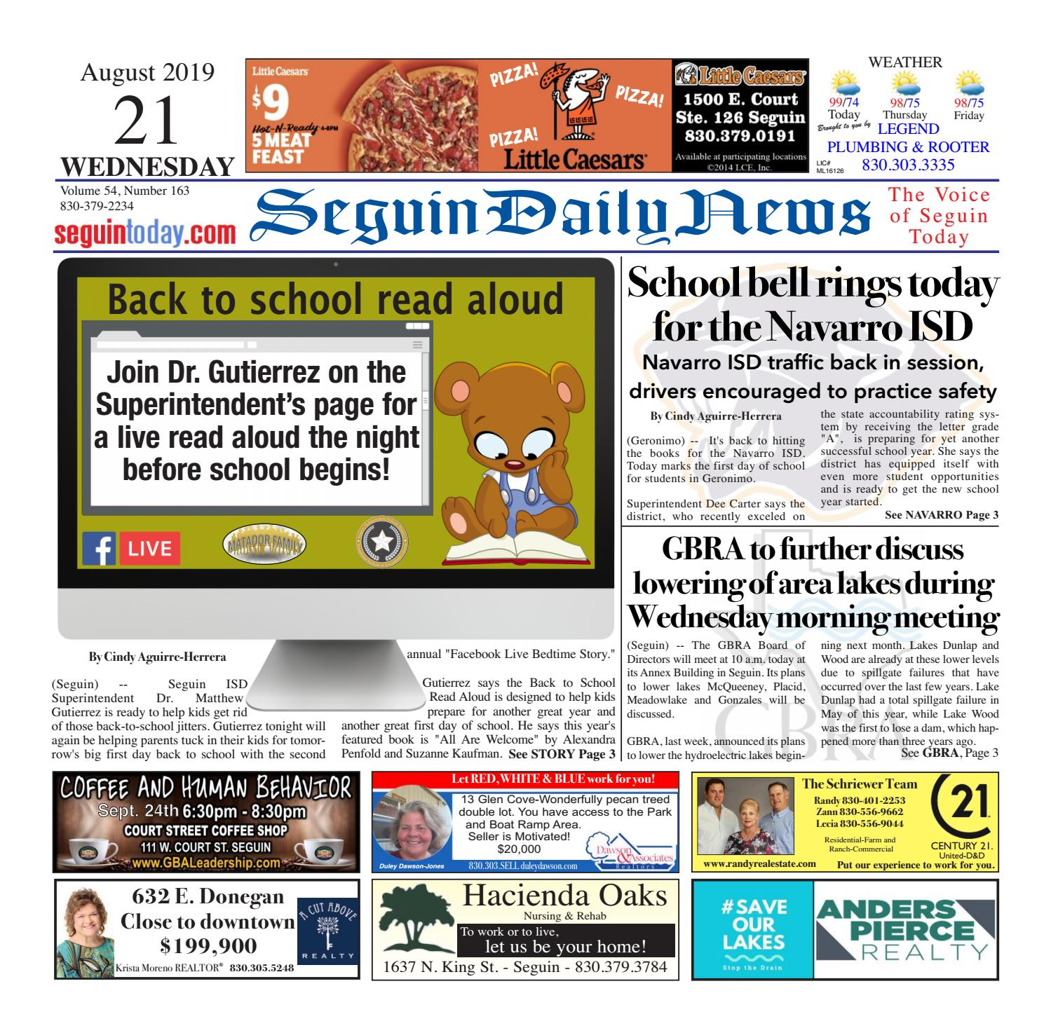 SDN, August 21, 2019 by Seguin Daily News - issuu