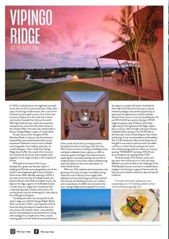 Page 22 of Vipingo Ridge: 10 Years On