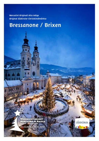 Mercatini Originali Alto Adige Bressanone Original