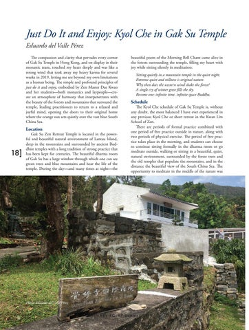Page 18 of Just Do It and Enjoy: Kyol Che in Gak Su Temple