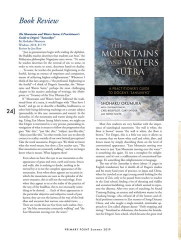 """Page 24 of Book Review—The Mountains and Waters Sutra: A Practitioner's Guide to Dogen's """"Sansuikyo"""""""