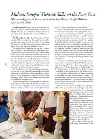 Page 4 of Midwest Sangha Weekend: Talks on the Four Vows