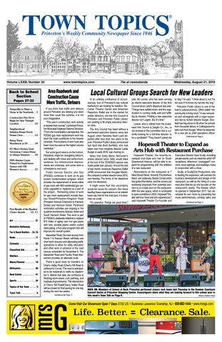 Town Topics Newspaper, August 21st by Witherspoon Media