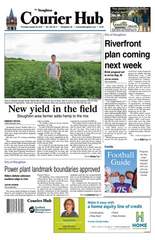 8/22/19 Stoughton Courier Hub by Woodward Community Media