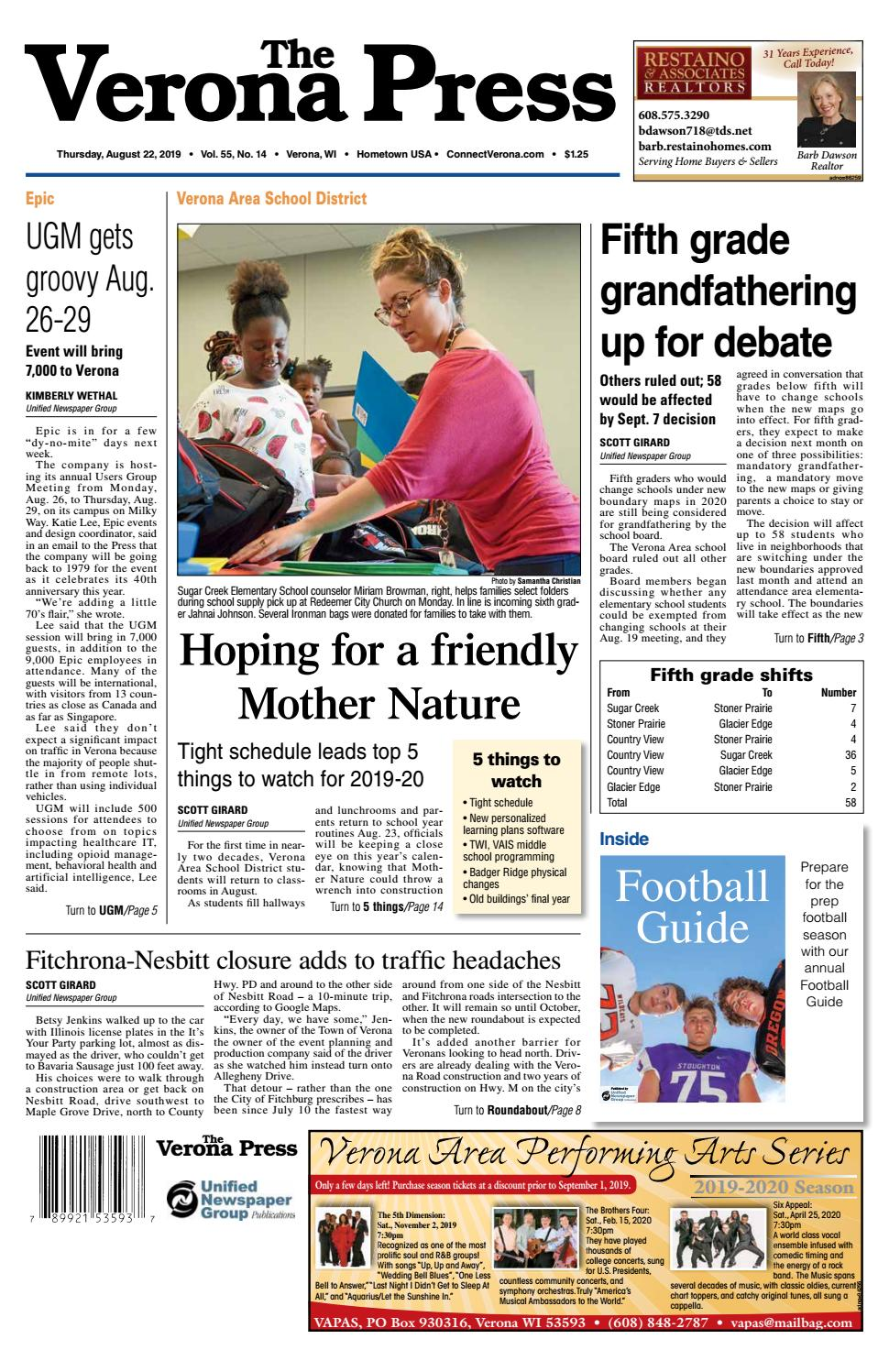 8/22/19 Verona Press by Woodward Community Media - issuu