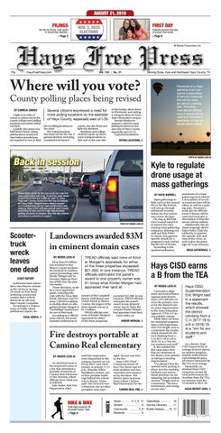 Hays Free Press August 21, 2019 by Hays Free Press/News