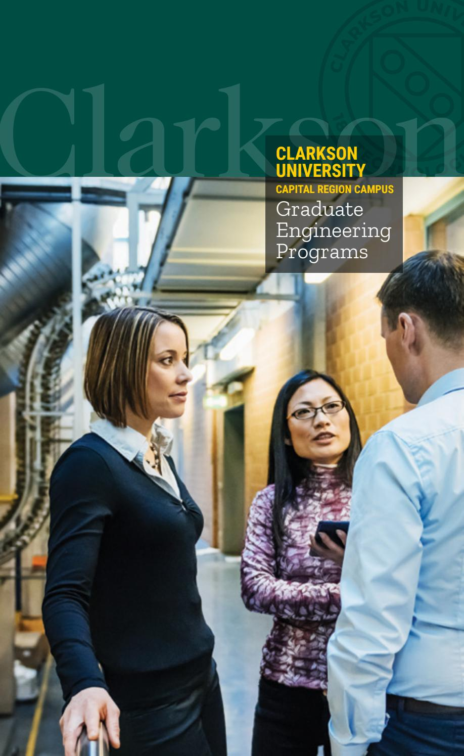 Clarkson University Capital Region Campus Crc Graduate Engineering Programs By Clarkson University Graduate School Issuu