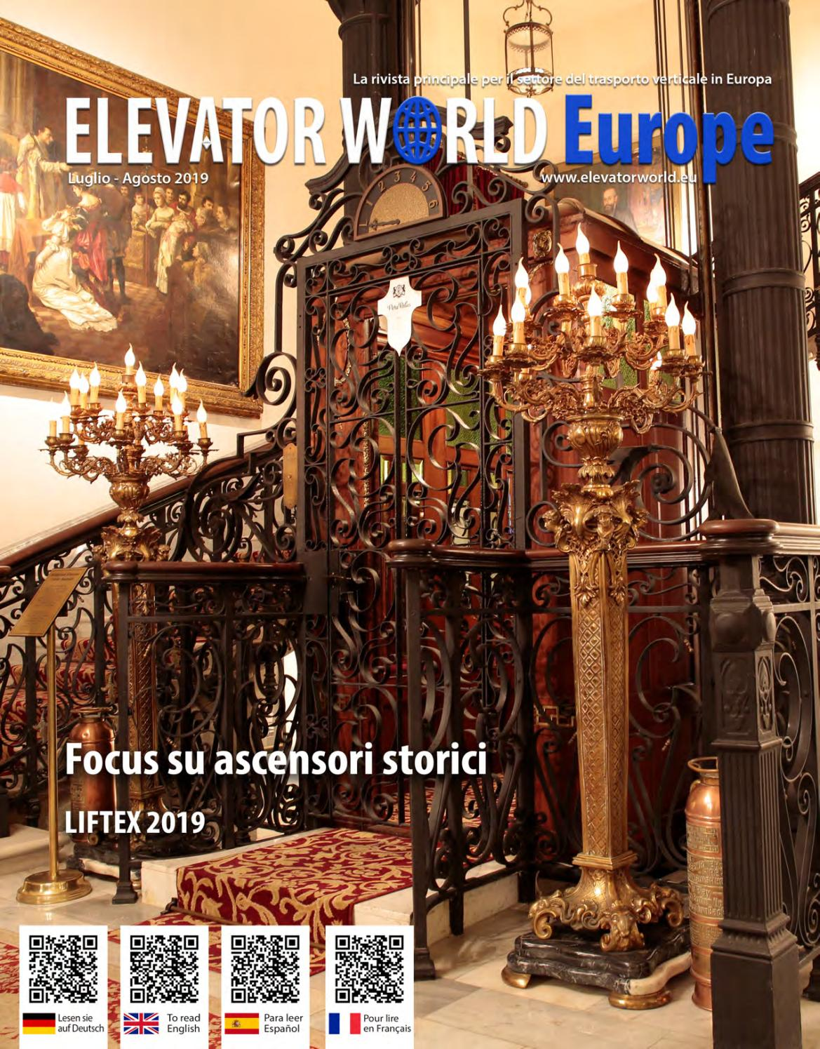 Come Costruire Un Mini Ascensore elevator world europe italiano | luglio - agosto 2019 by