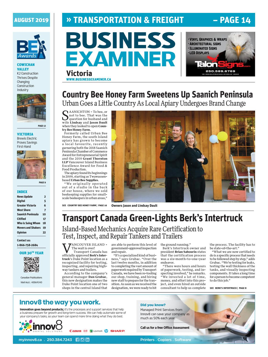 Mobil1 Us Onlineform >> Business Examiner Victoria August 2019 By Business