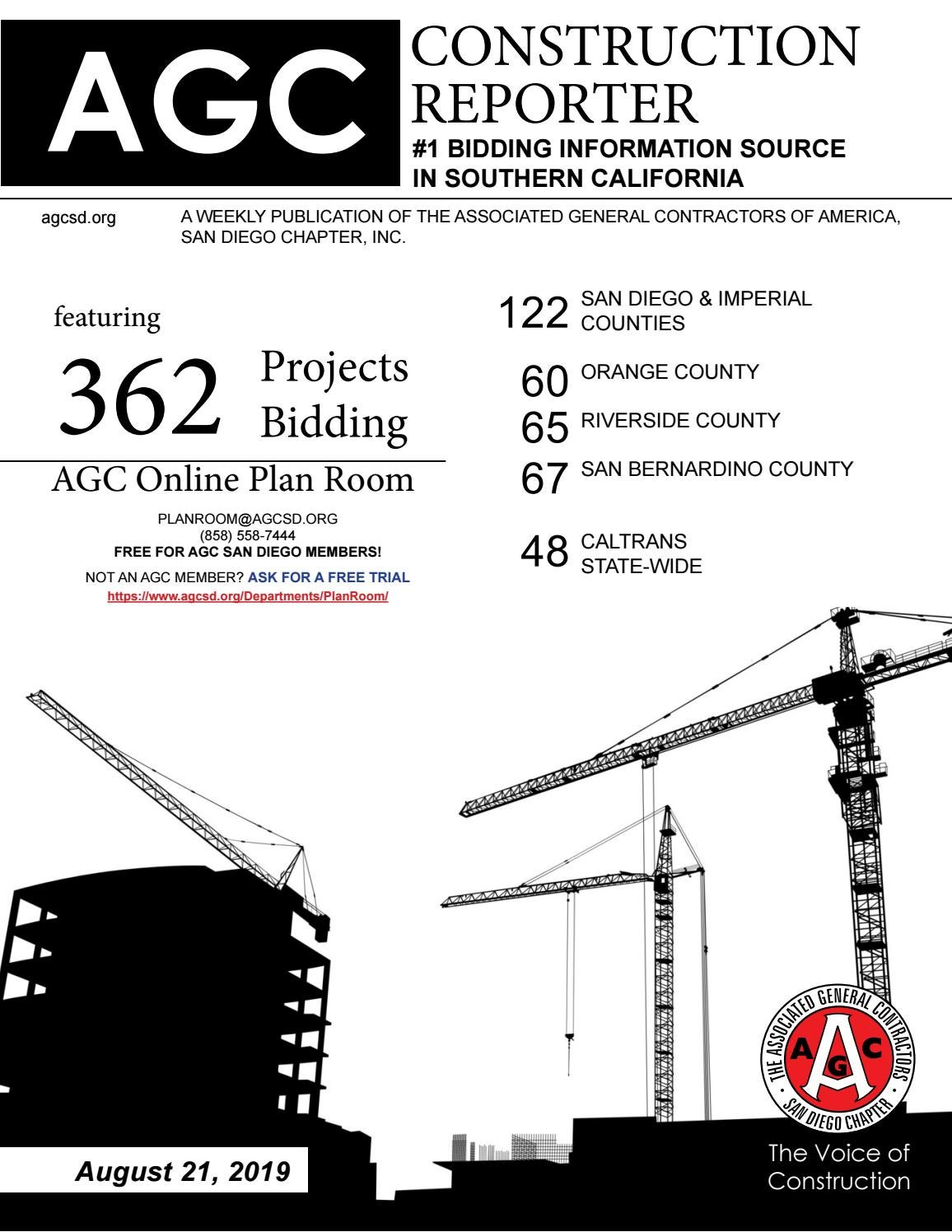 AGC Construction Reporter - August 21, 2019 by AGC San Diego