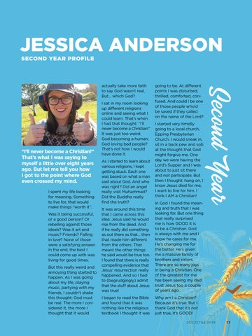 Page 19 of Jessica Anderson - Second Year Profile