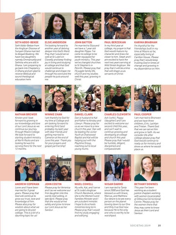 Page 33 of Third Year 2019 - Individual Profiles