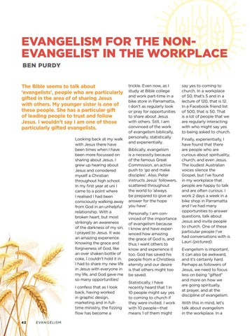Page 44 of Evangelism For the Non-Evangelist In the Workplace