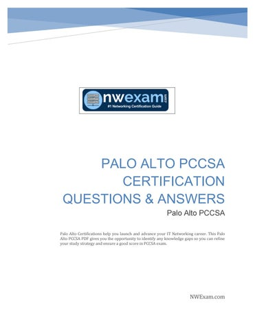 Palo Alto PCCSA Certification Exam- Sample Question by Ruchi