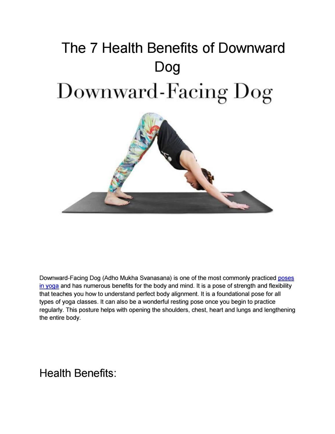 Downward Facing Dog Health Benefits
