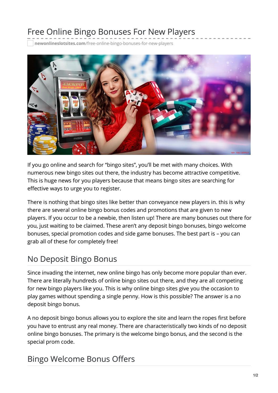 free internet bingo