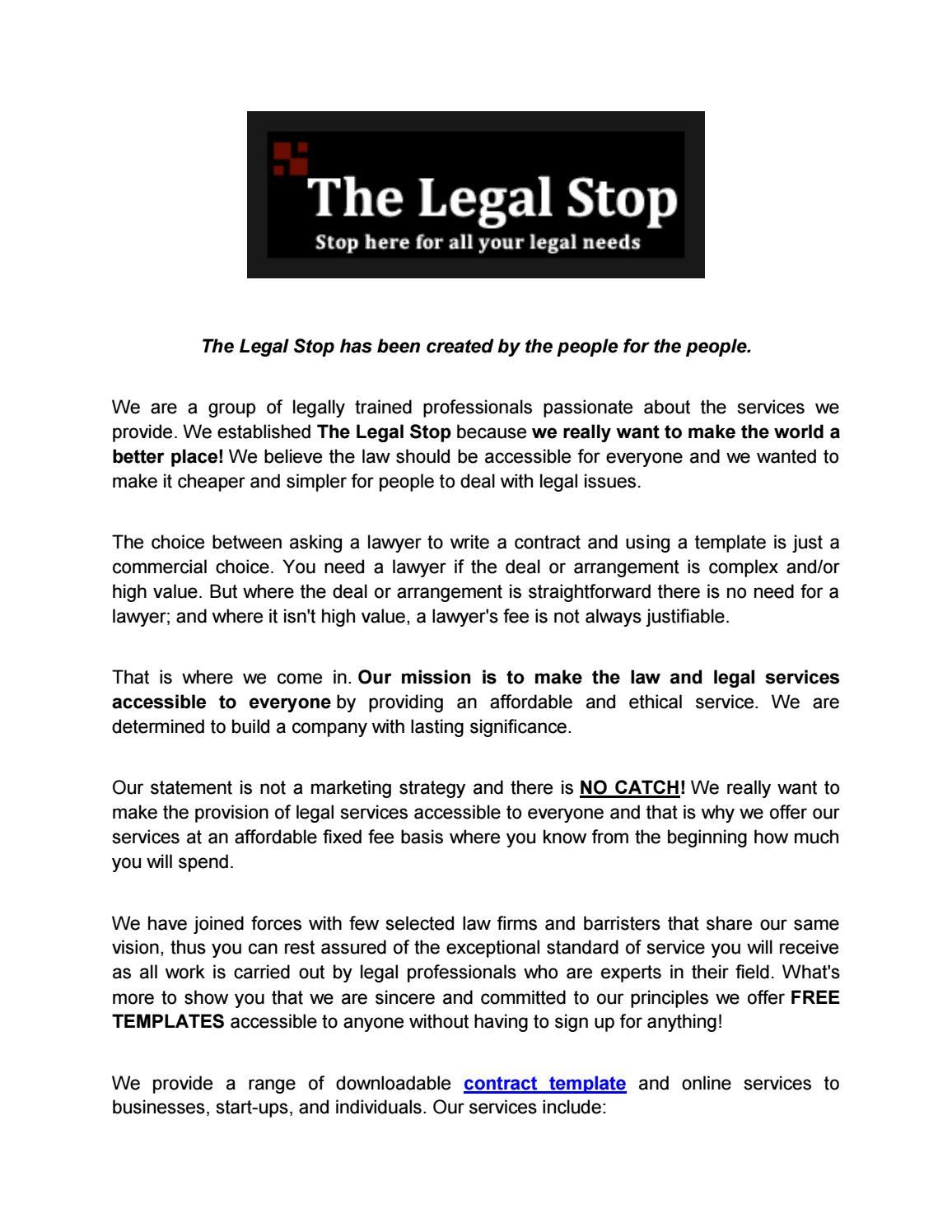 Legal Document Templates from image.isu.pub