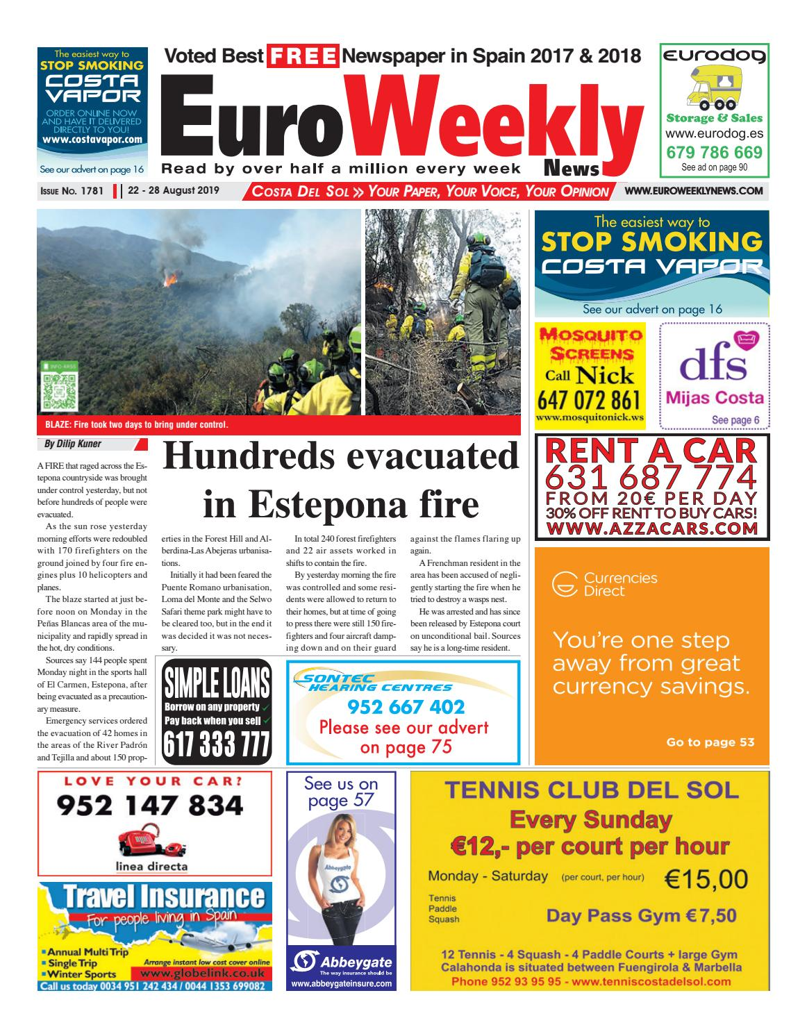 Euro Weekly News - Costa del Sol 22 - 28 August 2019 Issue