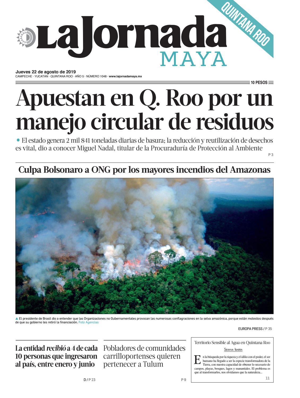La Jornada Maya Quintana Roo Jueves 22 De Agosto De 2019
