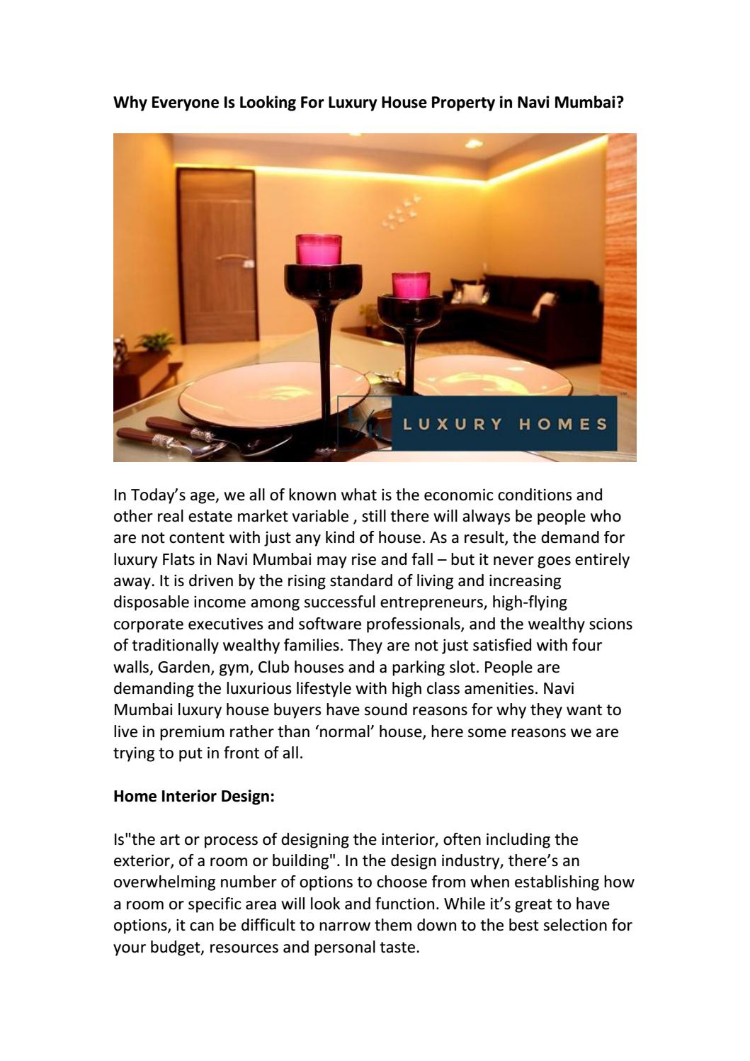 Why Everyone Is Looking For Luxury House Property In Navi Mumbai By Balaji Symphony Issuu