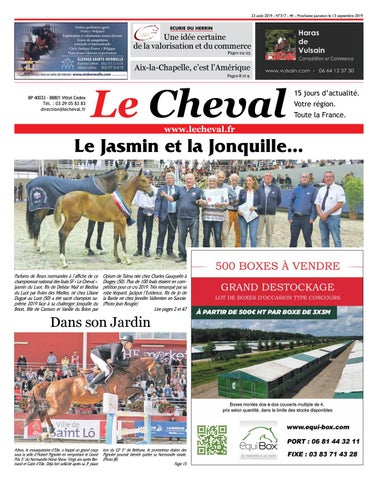 Journal Le Cheval n°317 du 23 Août 2019 by Etienne Robert