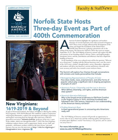 Page 9 of NSU to host three-day 1619 Making of America Event in the Fall