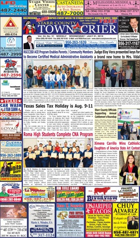 July 31, 2019 by Starr County Town Crier - issuu