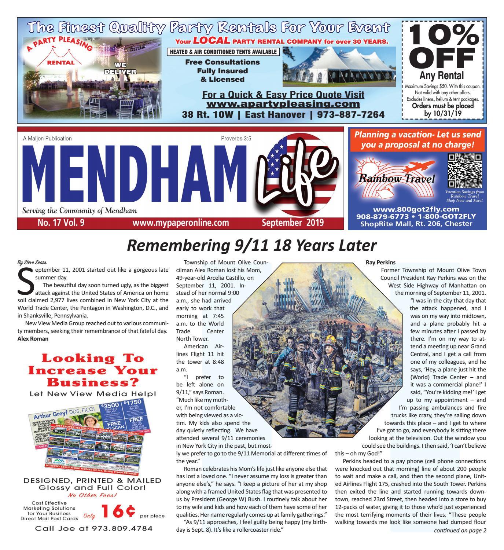 Mendham Life Sept 2019 by My Life Publications  Maljon LLC