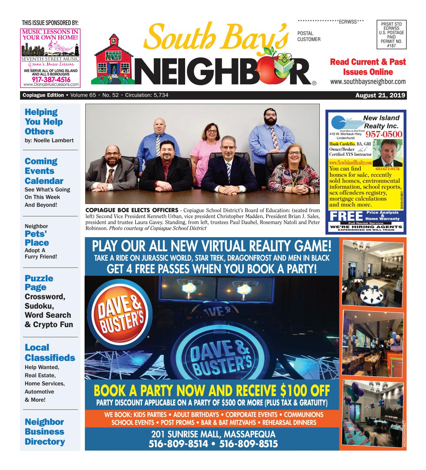 August 21 2019 Copiague By South Bay S Neighbor Newspapers Issuu