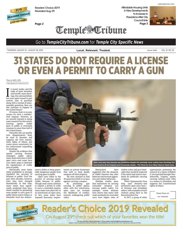 Temple City Tribune - 08/22/2019 by Beacon Media News - issuu