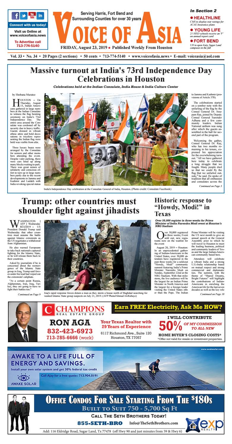VOA E Paper 08 23 19 by VoiceOf Asia issuu