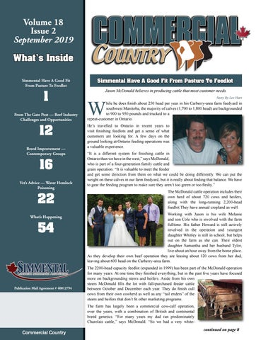 Commercial Country September 2019 by Today's Publishing Inc