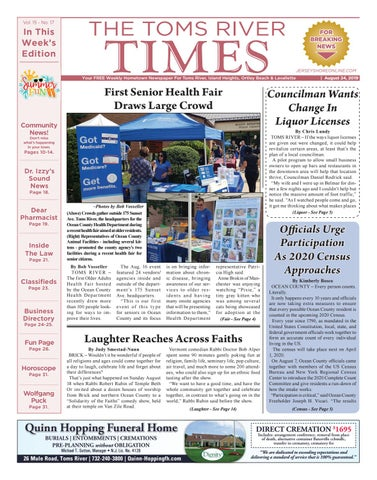 2019-08-24 - The Toms River Times by Micromedia Publications