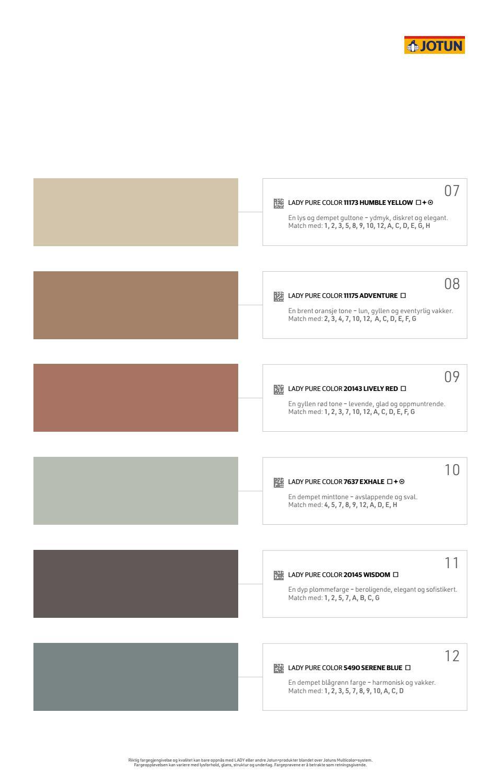 Jotun lady fargekart 2020