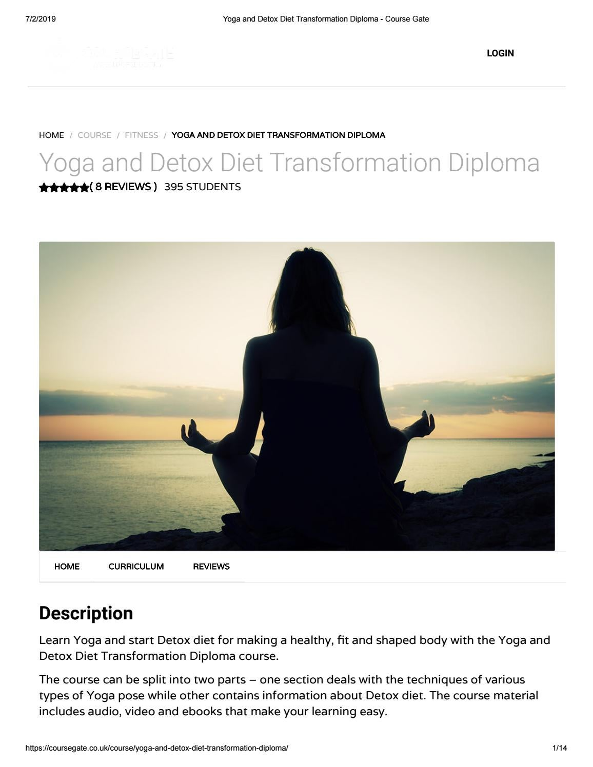 Yoga and Detox Diet Transformation Diploma - Course Gate by