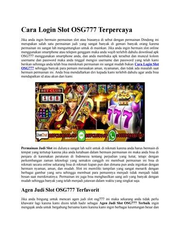 Cara Login Slot Osg777 Terpercaya By Nadia Wu Issuu