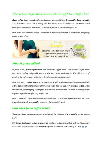 Grecobe Green Coffee Best For Weight Loss By Grecobe11 Issuu