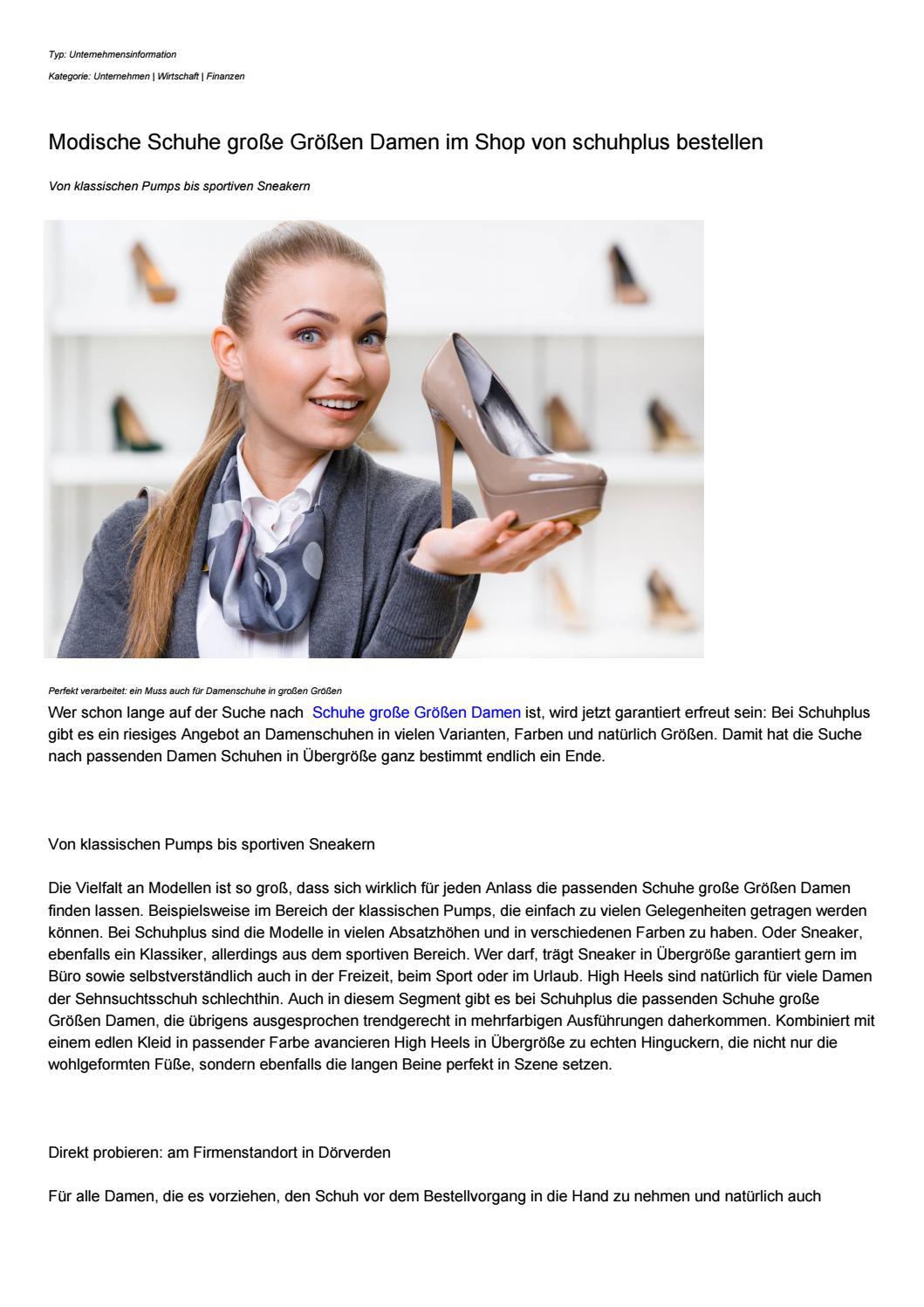 san francisco caa22 9408a Modische Schuhe große Größen Damen im Shop von schuhplus ...