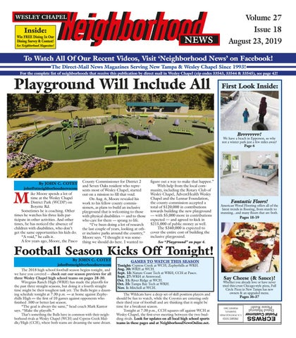 Wesley Chapel Neighborhood News, Volume 27  Issue 18, August