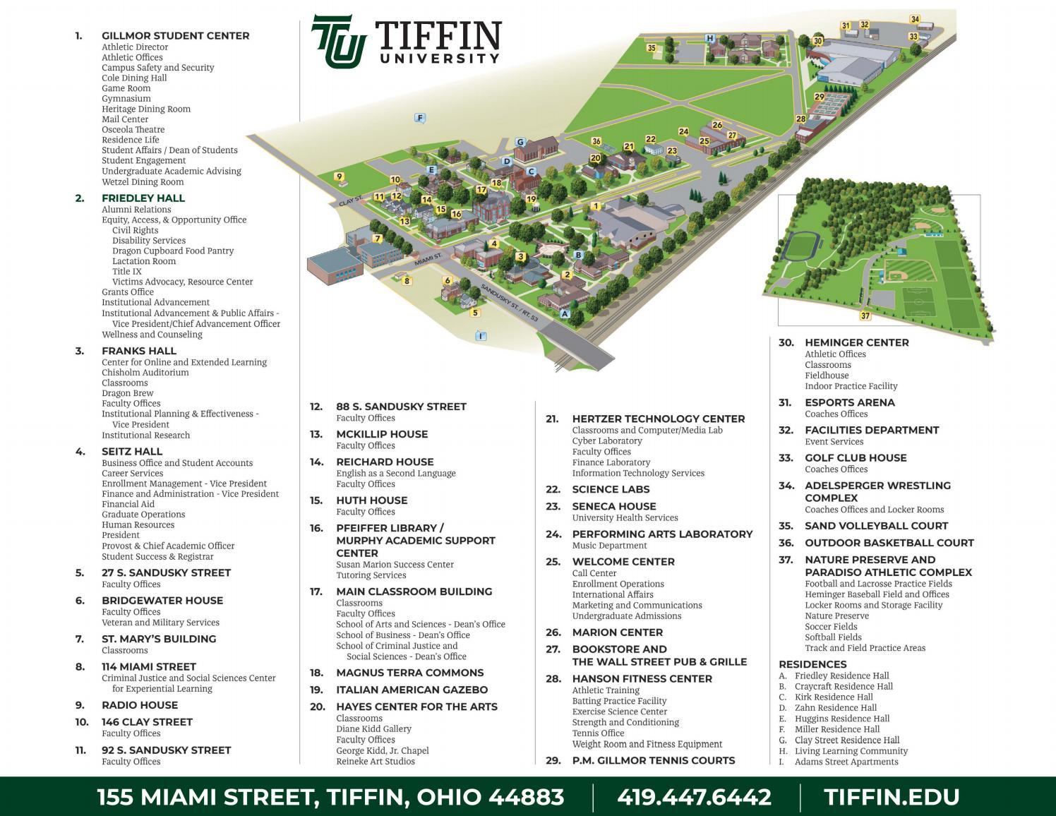 pfeiffer university campus map Tiffin University Campus Map 2019 By Tiffin University Issuu pfeiffer university campus map